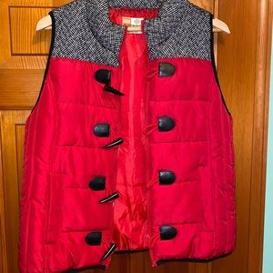 RH Ruff Hewn red puffer vest